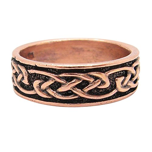 Copper Celtic Knot Ring #CR053 - 1/4 of an inch - Available in sizes 6 thru 13. ()