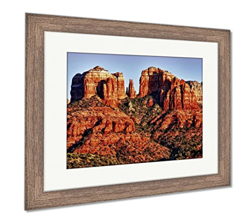 (Ashley Framed Prints Messunset On Cathedral Rock Near Sedonarizon, Wall Art Home Decoration, Color, 26x30 (Frame Size), Rustic Barn Wood Frame, AG5456278)
