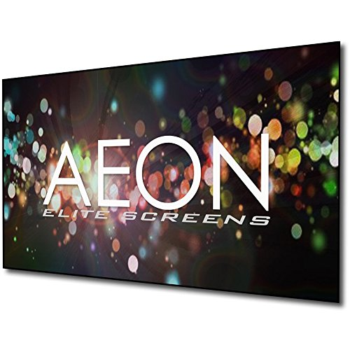 - Elite Screens Aeon AUHD Series, 100-inch 16:9, 4K Home Theater Fixed Frame EDGE FREE Borderless Projection Sound Transparent Perforated Weave Projector Screen, AR100H2-AUHD