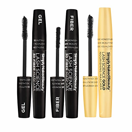 3D Fiber Lash Mascara with Eyelash Enhancing Serum by Simply Naked Beauty. Infused with Organic Castor Oil to nourish lashes. Organic & hypoallergenic ingredients. Waterproof, smudge proof & last all by Simply Naked Beauty (Image #2)