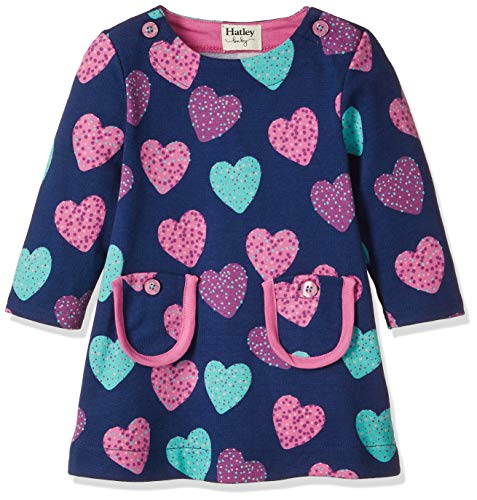 Hatley Baby Girls Mod Dress, Sprinkle Hearts 6-9 Months ()