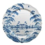 Juliska Country Estate Charger Server Plate House Blue