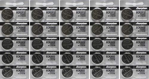 25 Energizer 2032 Battery CR2032 Lithium 3v (5 Packs of 5) (China Wholesale Electronics)