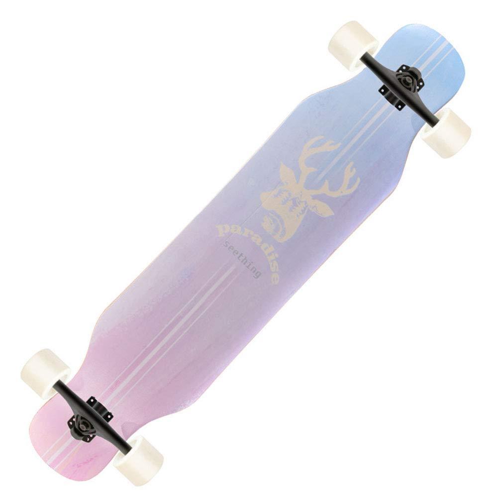 1-1 Longboard Professionale Skateboard 4 Ruote Adulto Bambini Adolescenti All'aperto Sport Estremo Stabile Damping,B