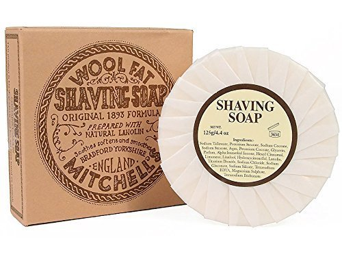 2-Pack of Mitchell's Wool Fat Shave Soap Refill - 2 Pack!