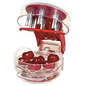 Household Cherry pitter with retail box cherry take nuclear device food grade PP+ABS 6 cherries at once fruit vegetable tool