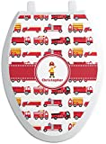 RNK Shops Firetrucks Toilet Seat Decal - Elongated (Personalized)