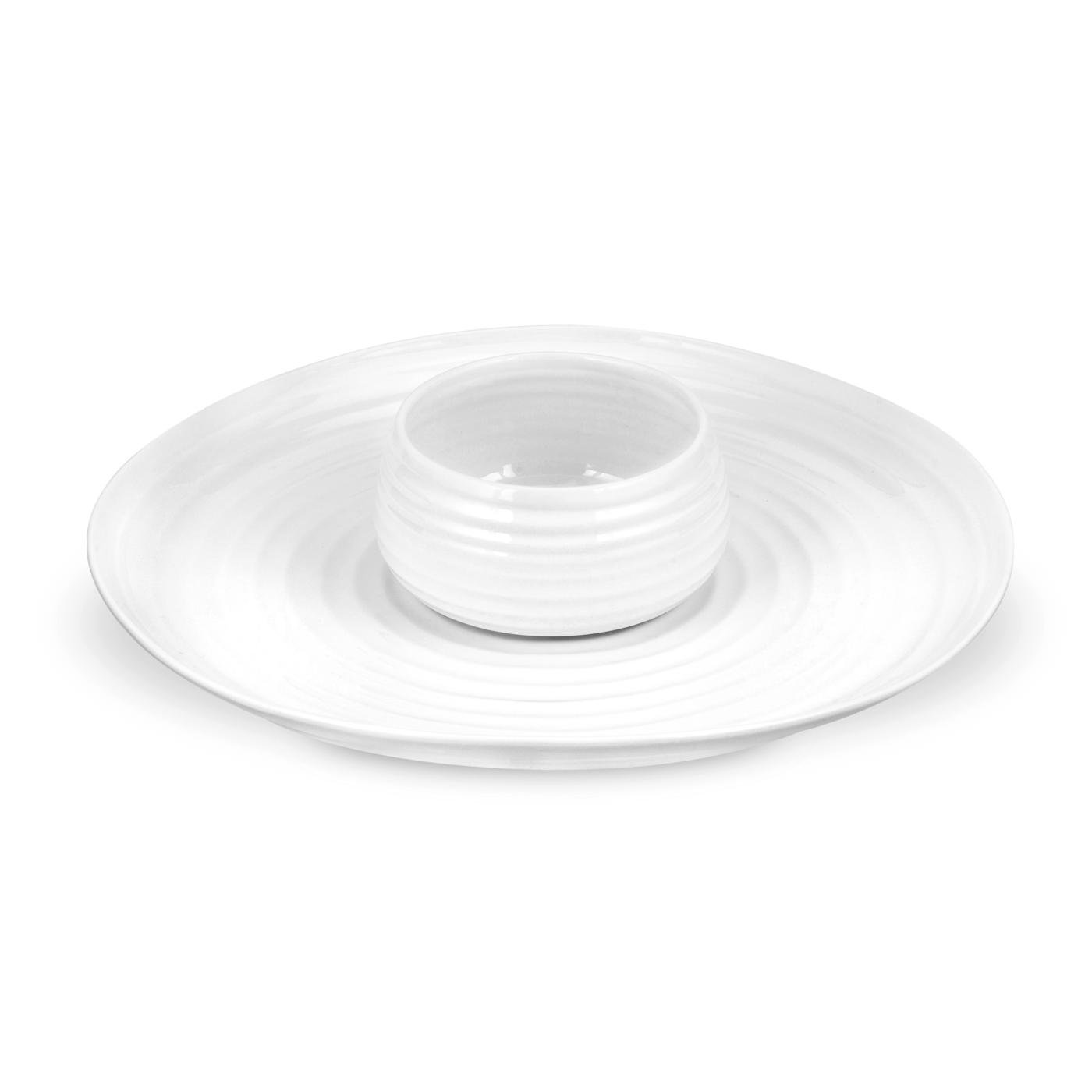 Portmeirion Sophie Conran White 2-Piece Chip and Dip