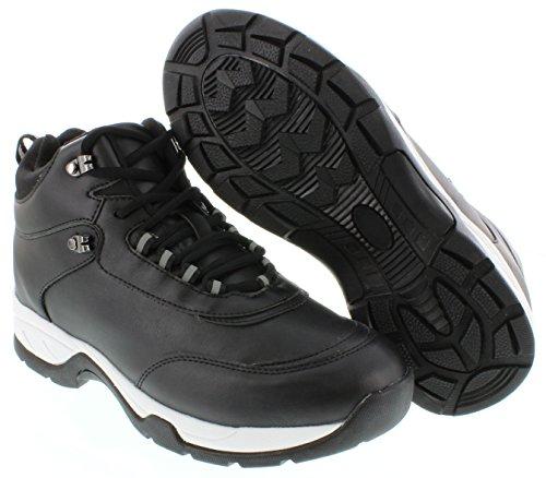 calto–g3319–8,1cm Grande Taille–Hauteur Augmenter Chaussures ascenseur (Noir mid-top Sneakers)