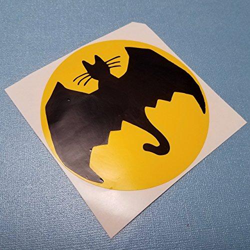 [BatCat Batman Cat Vinyl Decal Sticker for Yeti Tumbler Car or Laptop - 4 inches] (Nerd Costume Ideas Pinterest)