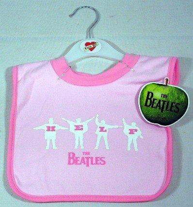 Beatles Baby Bib HELP ~ Pink (Bib Beatles)