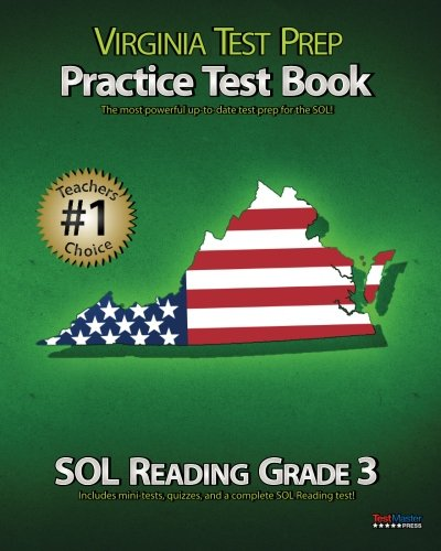 VIRGINIA TEST PREP Practice Test Book SOL Reading Grade 3