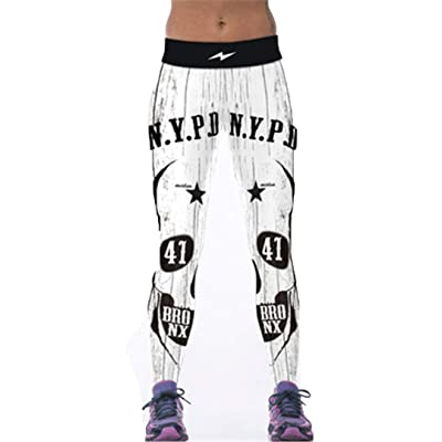 3D Tiger Print Blanco Mujeres Fitness Estiramiento Transpirable Wicking Leggings A7 One Size: Ropa y accesorios