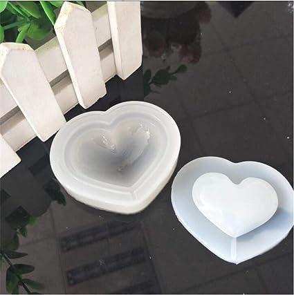 Amazon com: Clay Molds - Heart Shape Quicksand Crystal Glue Food