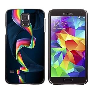 Paccase / SLIM PC / Aliminium Casa Carcasa Funda Case Cover para - Colorful Spiral - Samsung Galaxy S5 SM-G900