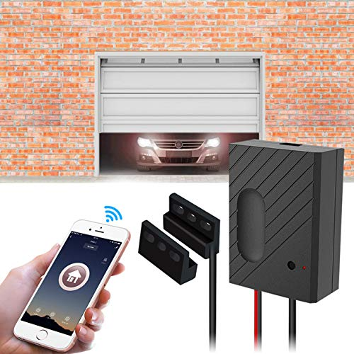 TEEKAR WiFi Garage Door Opener Kit Smartphone Control Garage Door Switch Controller Compatible with Alexa/Siri/Google Home/IFTTT
