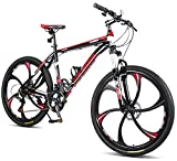 "Merax MS008700BAA Finiss 26"" Aluminum 21 Speed MG Alloy Wheel Mountain Bike"