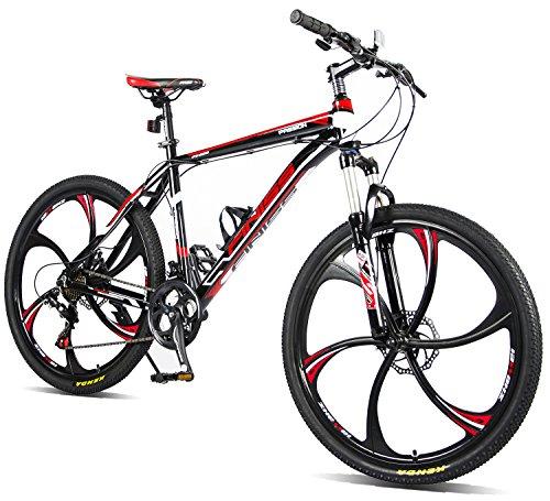 Merax MS008700BAA Finiss 26' Aluminum 21 Speed MG Alloy Wheel Mountain Bike