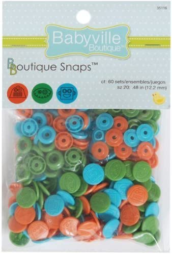 Babyville Boutique Snaps, Robots, Set of 60 by Prym Consumer USA ...