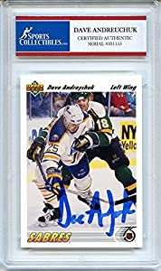 Dave Andreychuk 1991-92 Upper Deck Buffalo Sabres Signed Trading Card - Certified Authentic