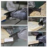 15 PCS Mixed Wood/Metal Oscillating Multitool Quick Release Oscillating Saw Blades Fits Fein Multimaster, Porter Cable, Black&Decker, Bosch Craftsman, Ridgid, Makita, Milwaukee, Dewalt, and More