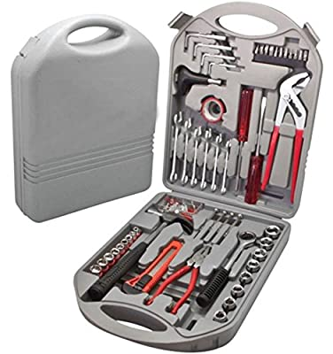 141 Pcs Heavy Duty Toolbox - Mixed Portable Toolkit with Carrying Case