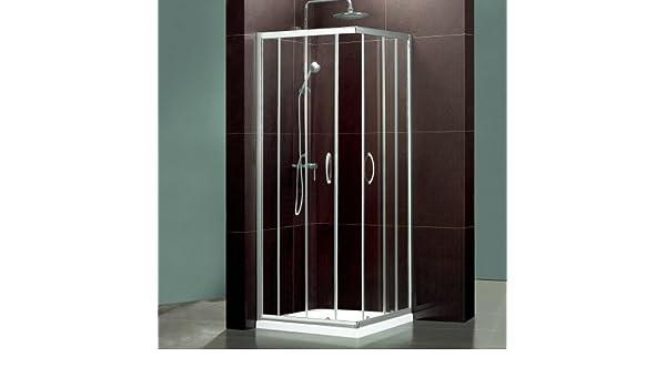 Trueshopping Mampara de ducha de cristal cuadrada Corner Entrada ...