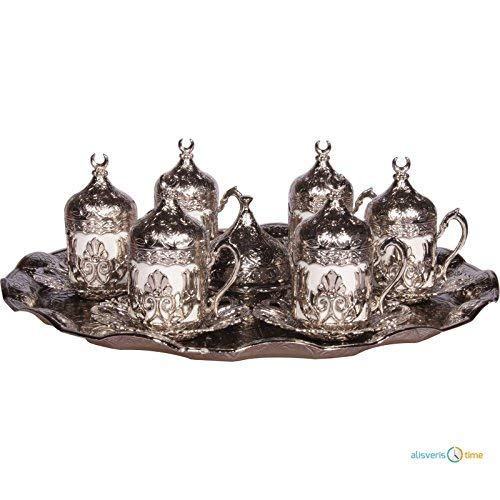 Alisveristime 27 Pc Ottoman Turkish Greek Arabic Coffee Espresso Serving Cup Saucer (Hilal) by Alisveristime (Image #1)
