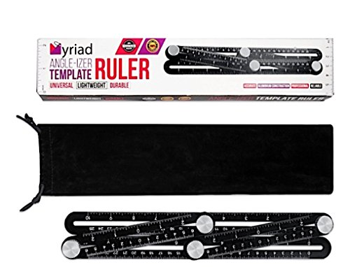 Universal Multi Angle Measuring Ruler – Myriad Angle-izer Ruler Fully Crafted from Top Quality Aluminum Universal Multi-Functional Ruler Template Tool for Professional or DIY use