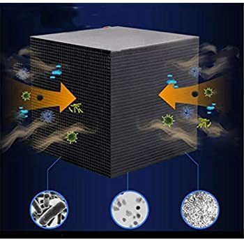 Eco-Aquarium Water Purifier Cube, Fulijie Fish Water Pet's Filters, Ultra Strong Filtration and Absorption Material, for Aquarium,Ponds,Water Tank Water Purification 4X4X4 Inch (Black)