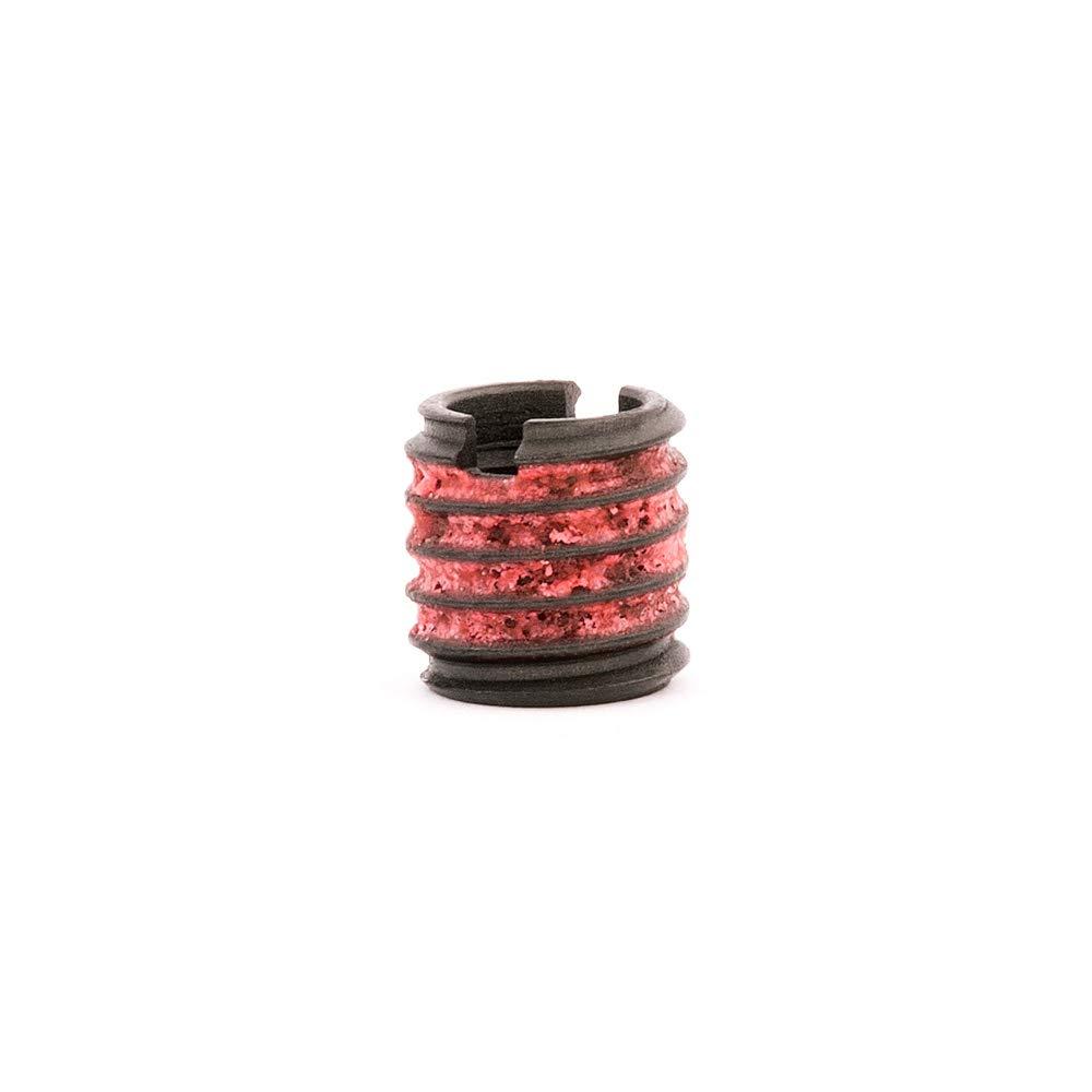 E-Z Lok Externally Threaded Insert, C12L14 Carbon Steel, Meets AISI 12L14, 1/4''-20 Internal Threads, 3/8''-16 External Threads, 0.375'' Length, Made in US (Pack of 10) by E-Z LOK