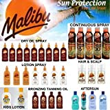 Malibu Suncare Suntan Products - Sun Creams, Dry Oil Sprays, Bronzing Tanning Oils, Aerosol Continuos Sprays, Gels And Aftersuns (ONCE DAILY CLEAR EM123 SPF30 200ml) by Malibu