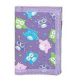 CTM Kid's Owl Print Trifold Wallet, Purple