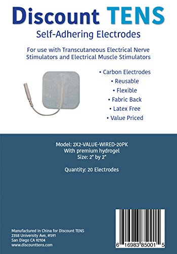 TENS-Electrodes-Value-Wired-2x2-Replacement-Pads-for-TENS-Units-20-TENS-Unit-Electrodes-2x2-Wired-TENS-Unit-Pads-Discount-TENS-Brand
