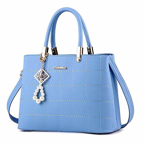 BMKWSG , Sac pour Femme à Porter à l'épaule Bleu Bleu bleu ciel