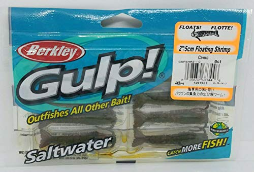 Gulp! Floating Shrimp Saltwater Fishing Bait, 2-Inch, ()