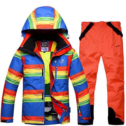 Cappotto Pantaloni Donne Impermeabile By Cerniera Fym Giacca Tuta M Da Giacche Antivento Dyf Uomini Caldo Sci arancio q8vXt