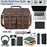Laptop Messenger Bag for Men 15.6 Inch Waterproof
