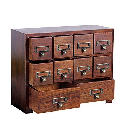 Primo Supply Traditional Solid Wood Small Chinese Medicine Cabinet l Vintage and Retro Look with Great Storage Apothecary Drawer Herbal Dresser l Great for Storage for Modern Things ... (Bamboo Medicine Cabinet)