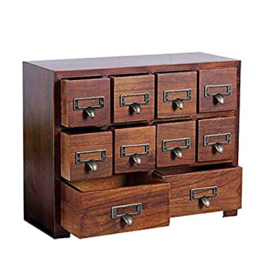 Primo Supply Traditional Solid Wood Small Chinese Medicine Cabinet l Vintage and Retro Look with Great Storage Apothecary Drawer Herbal Dresser l Great for Modern Gear   Wide - NO Assembly Required