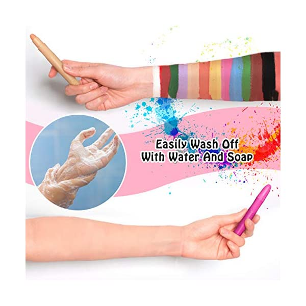 Paint-Crayons-Kit-YFM-12-Color-Face-Paint-Crayon-Safe-Non-Toxic-Face-and-Body-Crayons-Suitable-for-Makeup-Parties-Cosplay-or-Others