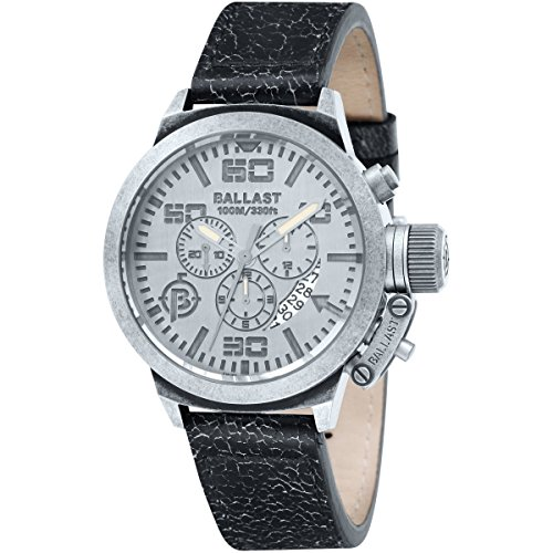 Ballast BL-3101-0D Limited Edition Trafalgar Vickers Stainless Steel Men's Watch with Leather Band