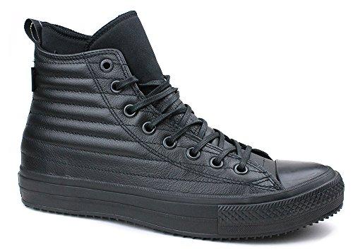 Converse Scarpe Uomo, MOD. CT As Hi Water Proof Boot Leather, Art. 157943C, Tomaia in Pelle Nera e Fondo Nero, FW17