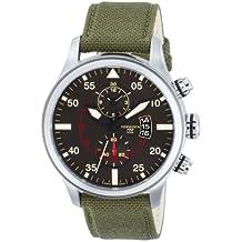 Torgoen Pilot T33 Series T33401 45mm Stainless Steel Case Green Nylon Mineral Men's Watch