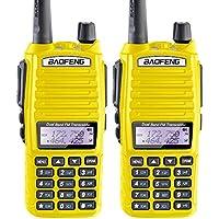 2PCS BaoFeng UV-82 Dual Band (VHF/UHF) Analog Portable Two-Way Radio Yellow color