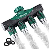 3 way faucet valve - Homdox 4 Way Hose Splitter,Y Garden Hose Connector Fits With Outdoor Faucet with 3 Rubber Washers Ball Valve for Easy Garden Life