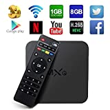 Globmall MXQ Android TV Box, Quad Core Android Smart Top TV Box Media Player