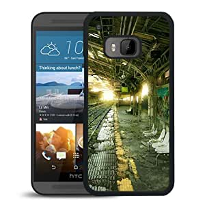 Unique DIY Designed Cover Case For HTC ONE M9 With Post Apocalyptic Train Station Tokyo Fantasy Mobile Wallpaper Phone Case