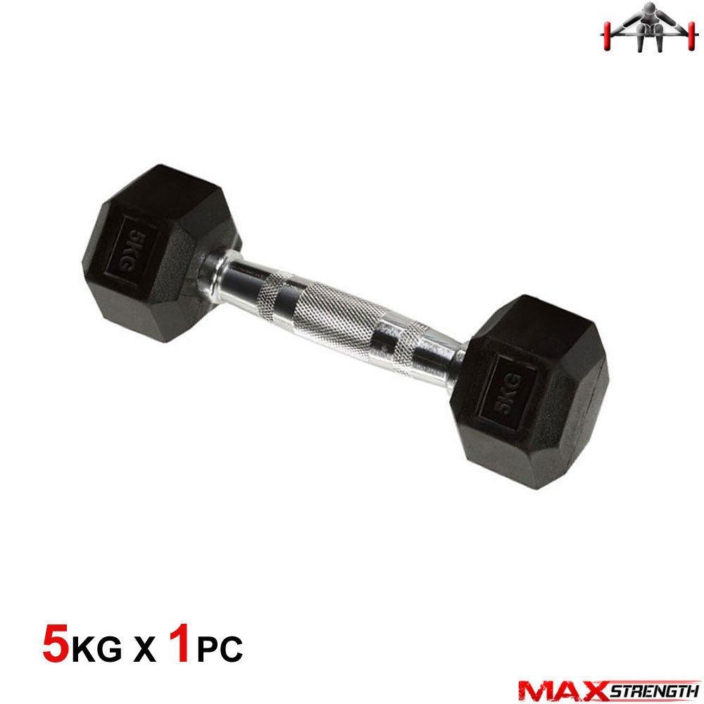 Max Strength MAXSTRENGTHHEX - Juego de Mancuernas de Goma para ...