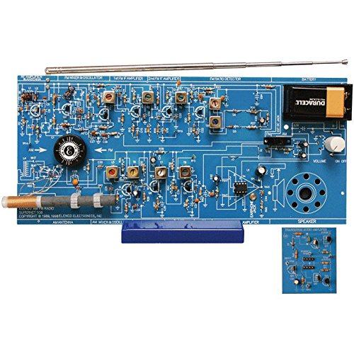 Amplifier Kit Building - Elenco  AM/FM Radio Kit |Switch Between ICs & Transistors | Lead Free Solder | Great STEM Project | Superheterodyne Designed to AM and FM Broadcasts | SOLDERING REQUIRED